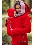Felpa per portare  Lennylamb- Red with Little herringbone elegance