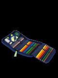 Astuccio rigido Ergobag per scuola elementare- HufBareisen, astuccio con colori