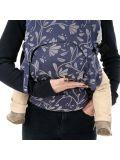 Marsupio Ergonomico Fidella Fusion 2.0 Full Buckle Toddler size- Floral Touch Eclipse Blu