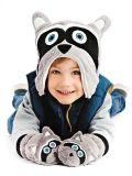 Cappello invernale reversibile in pile FlapJackKids - Orsetto lavatore/Volpe