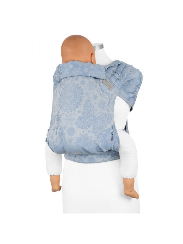 Fidella Fly Click Half Buckle Baby Size- Iced butterfly light blue