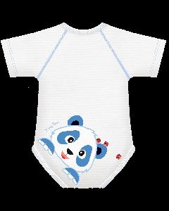 J Body caldo cotone Happy Bears Collection- Body allungabili  smanicato Panda  0-36