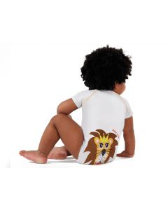 J Body Cotone Baby Jungle Collection - Body allungabile Leone -0-36 Mesi