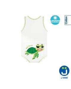J Body Fresco Cotone Summer Sealife Collection - Body allungabile smanicato Tartaruga